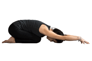 woman in Childs pose yoga asana